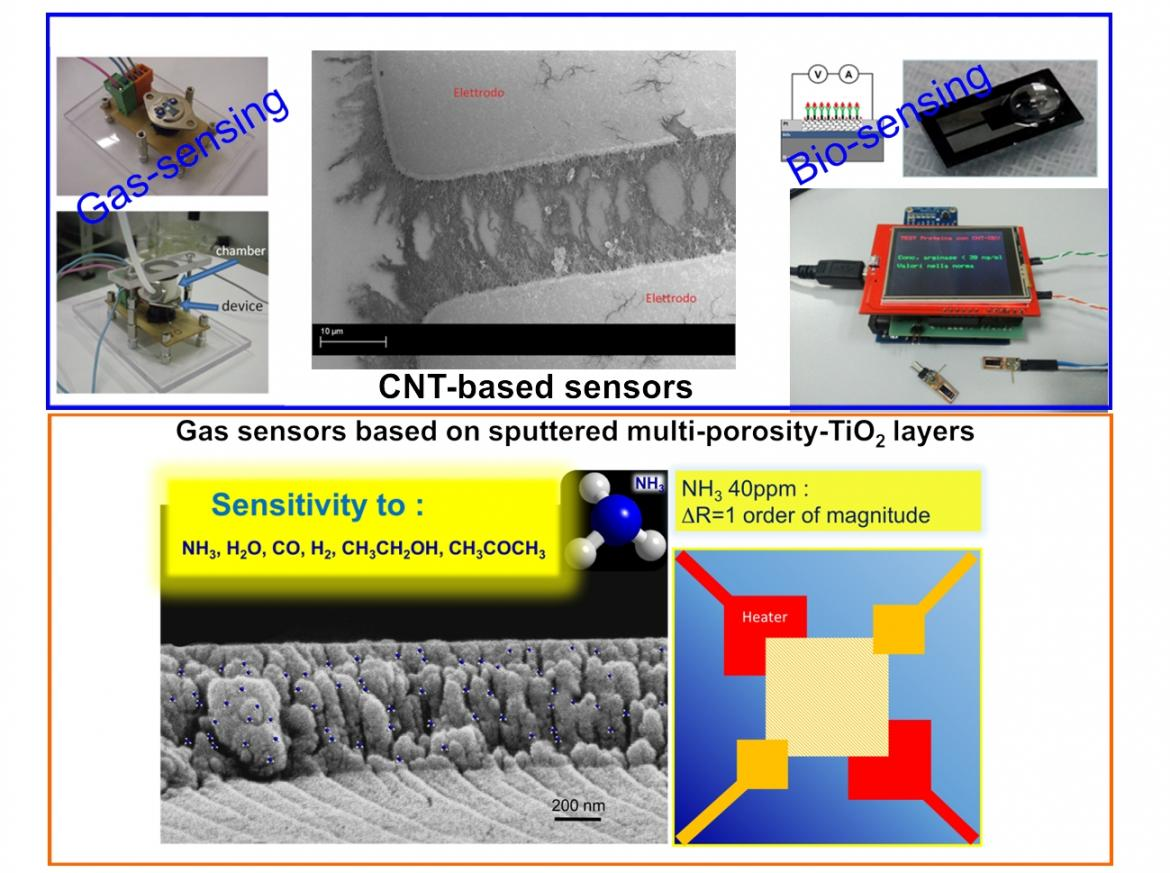 Sensors Based On Electrical Transduction Systems And Electromagnetic Sensitive Field Sensor Carbon Nanostructures Porous Metal Oxides Are Investigated As Layers For The Fabrication Of Environmental